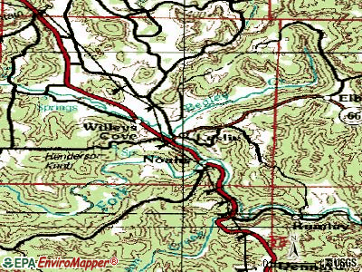 Leslie topographic map