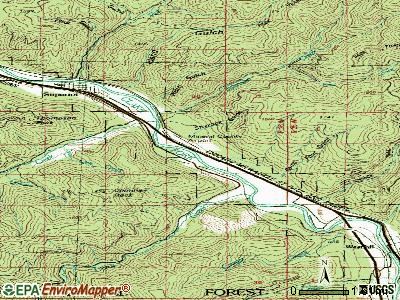 Riverbend topographic map