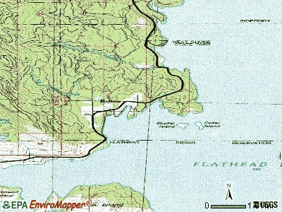 Rollins topographic map