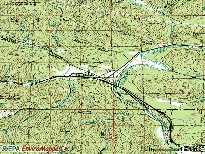 St. Regis topographic map