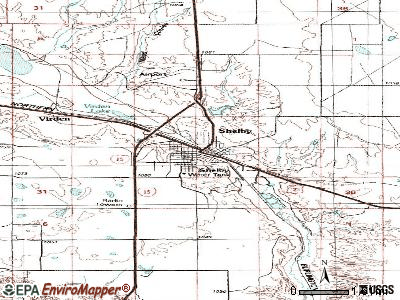 Shelby topographic map