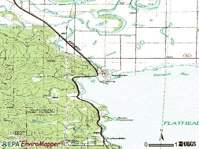 Somers topographic map
