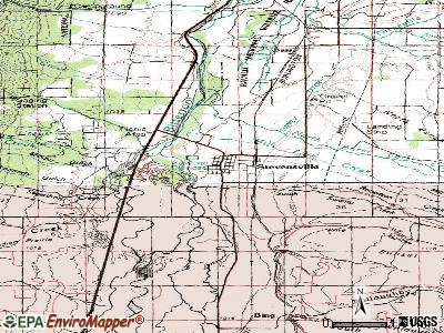 Stevensville topographic map