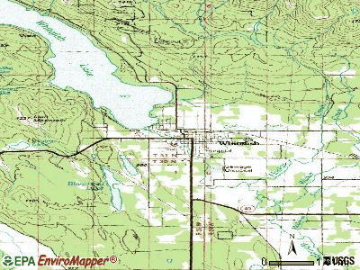 Whitefish topographic map
