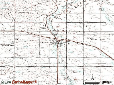Wibaux topographic map