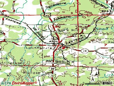 Lockesburg topographic map