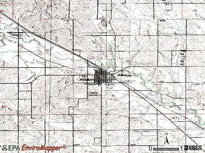Albion topographic map
