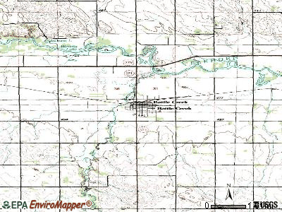 Battle Creek topographic map