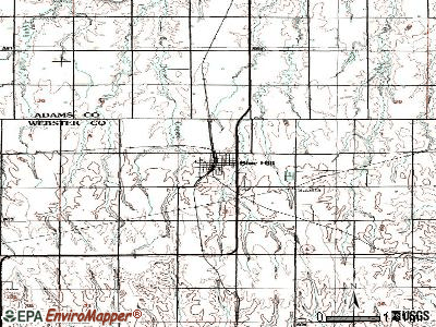 Blue Hill topographic map