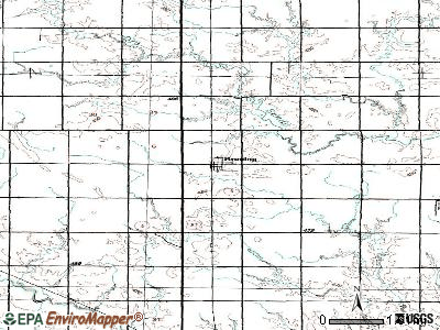 Bruning topographic map