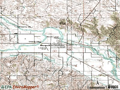 Burwell topographic map
