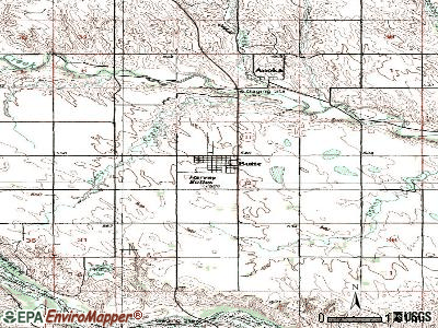 Butte topographic map