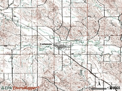 Callaway topographic map