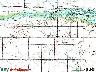 Cedar Bluffs topographic map