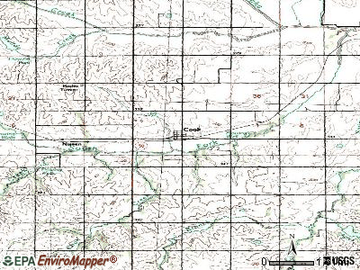 Cook topographic map