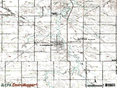 Creighton topographic map