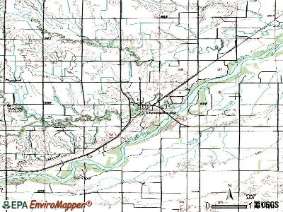Dannebrog topographic map