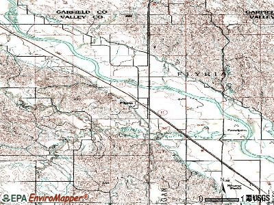 Elyria topographic map