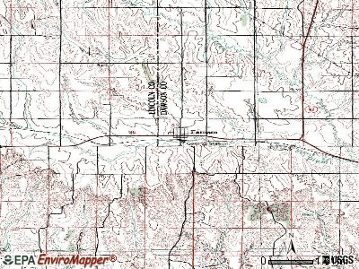 Farnam topographic map