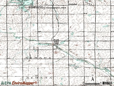 Firth topographic map