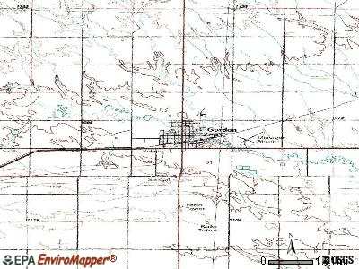 Gordon topographic map