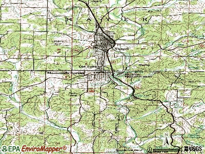 Mammoth Spring topographic map