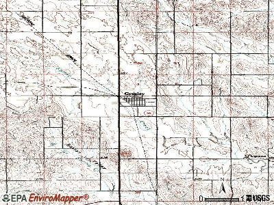 Greeley Center topographic map