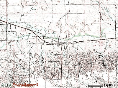 Haigler topographic map