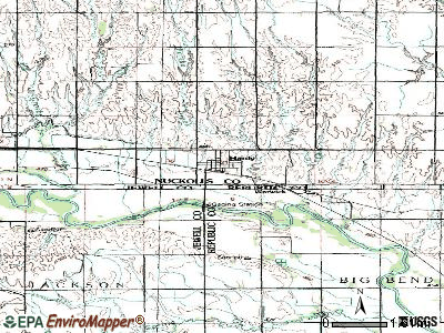 Hardy topographic map
