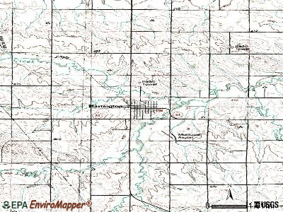 Hartington topographic map
