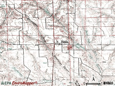 Hayes Center topographic map