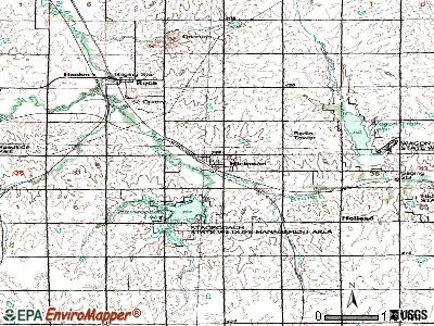 Hickman topographic map