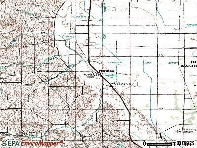 Homer topographic map