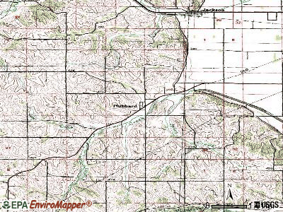 Hubbard topographic map