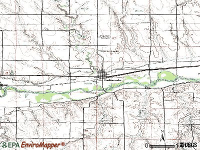 Indianola topographic map