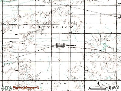 Kenesaw topographic map