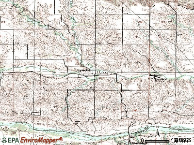 Lynch topographic map
