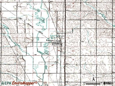 Lyons topographic map