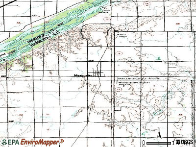 Marquette topographic map