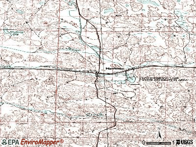 Merriman topographic map