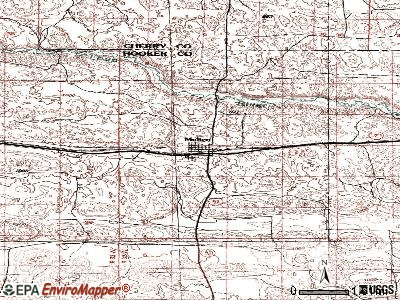 Mullen topographic map