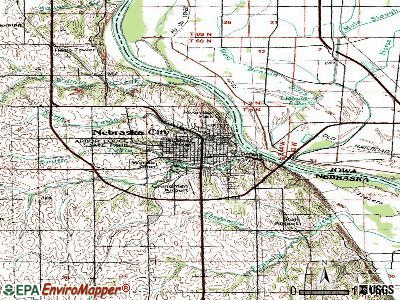 Nebraska City topographic map