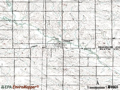 Newman Grove topographic map