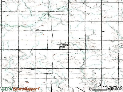 Ohiowa topographic map
