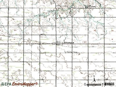 Orchard topographic map