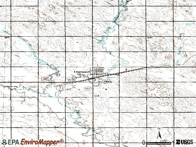 Osmond topographic map