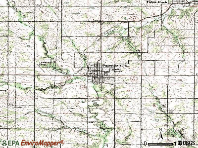 Pawnee City topographic map