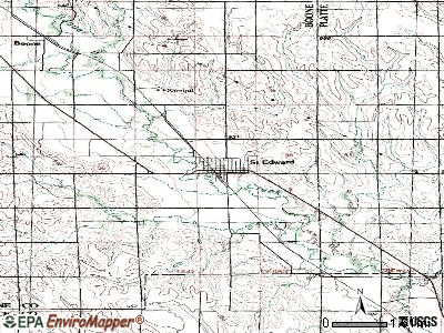 St. Edward topographic map
