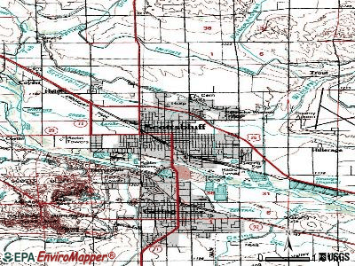 Scottsbluff topographic map