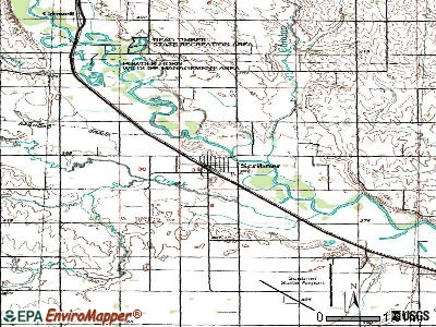 Scribner topographic map